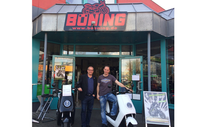 Zu Gast bei Motorrad Böning beim Gewerbeparkfest