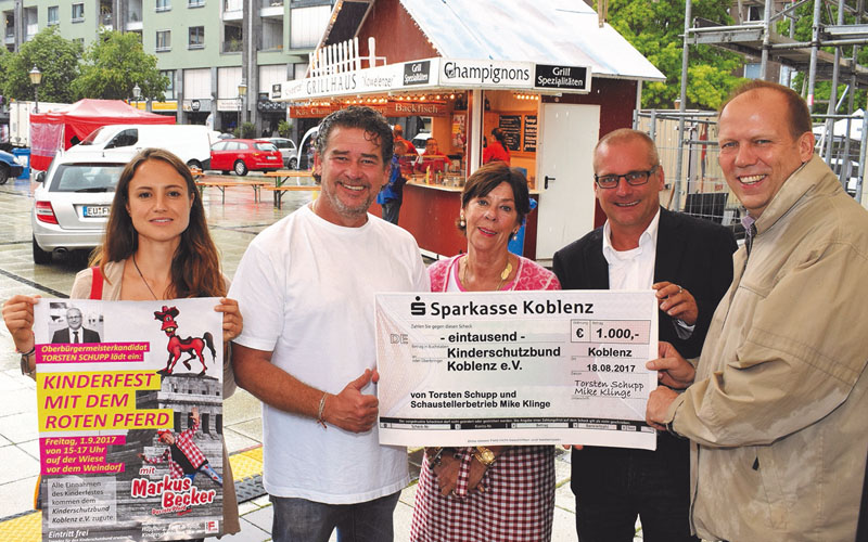 1.000 Euro für den Kinderschutzbund